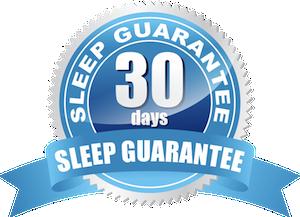 30-night sleep guarantee, in home trial