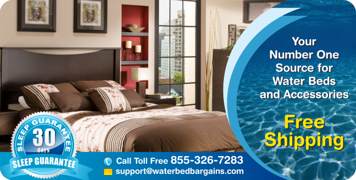Hardside and Softside Waterbeds at unbeatable prices, free shipping, 30-night in home trial