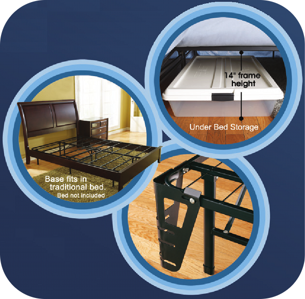 Platform bed frame and base features and benefits