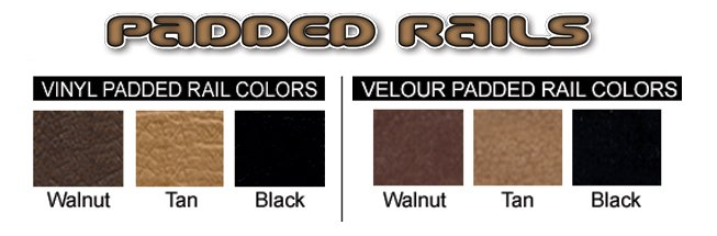 Padded rails colors available to ship today